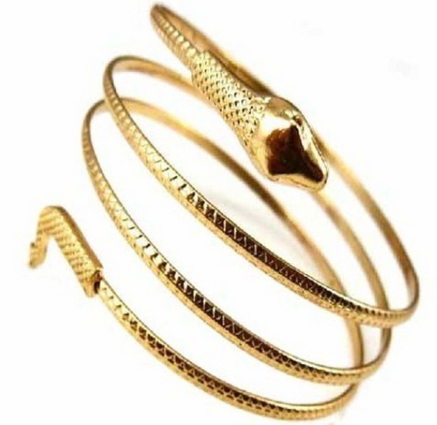 New Arrival Punk Fashion Coiled Snake Spiral Upper Arm Cuff Armlet