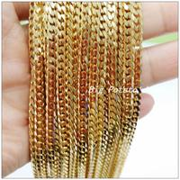 Fashion Jewelry 5/10Meters 4mm Width Gold Stainless Steel Classic Chain Finding Pendant&Necklaces,Wholesale Factory Price