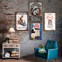 Shop Board Metal Poster Vintage Tin Sign Bar Pub Home Wall Decor Retro Metal Art Beer Coffee Poster Plate 1001(283)