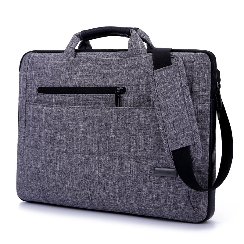 Brinch 14 15.6 Multi Functional Suit Fabric Portable Laptop Sleeve