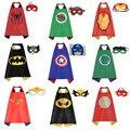 Máscara + capa/1 Unidades superman spiderman niños capas de superhéroes batman superhero costume trajes de niños niñas para la fiesta Sistemas de la ropa