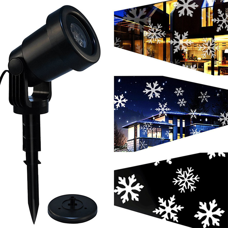 ZjRight Mery Christmas Lights Outdoor LED Snowflake Projector Light Star Lawn Lamps Light Waterproof Snow Lasers Christmas Light ...