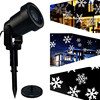ZjRight Mery Christmas Lights Outdoor LED Snowflake Projector Light Star Lawn Lamps Light Waterproof Snow Lasers