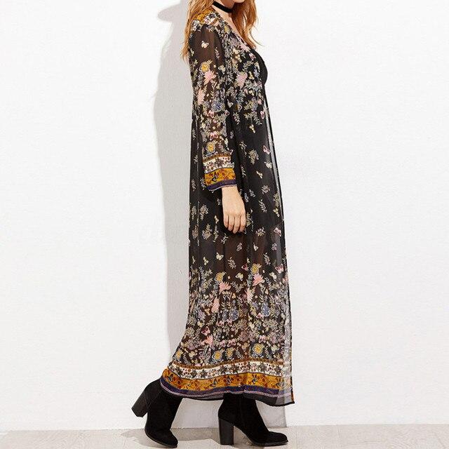 Full-Length Floral Kimono 3