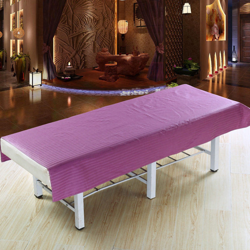 Professional Spa massage beauty bed sheets beauty salon dedicated linen Polyester stripe Flat fitted sheet table cover mattress in Sheet from Home Garden