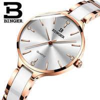 スイス深酒をする人の高級女性の腕時計ブランドクリスタルファッションブレスレット腕時計レディース女性腕時計レロジオ Feminino B-11853