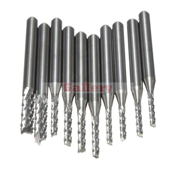 New Drill Bit 10pcs Carbide 1.5mm-3 175 Mm End Mill Engraving Cnc Rotary Burrs 3 Mill Grinder 1 Drill Bit