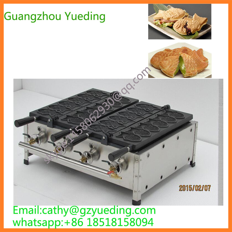 Taiwan gas double taiyaki machine No open mouth fish waffle maker machine,taiyaki pan fish waffle maker korea street food fish shape with electric open mouth taiyaki waffle maker