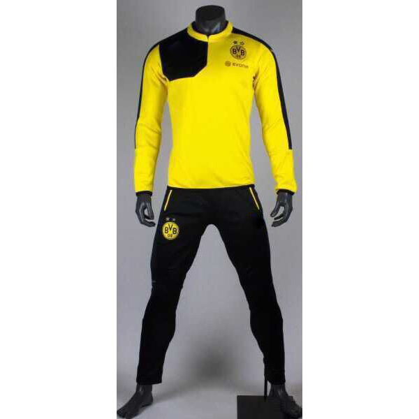LIGA borussia dortmund 15 16 clubs training suit survetement football  Tracksuit soccer jersey tracksuit maillot de foot BVB new 053ee2053