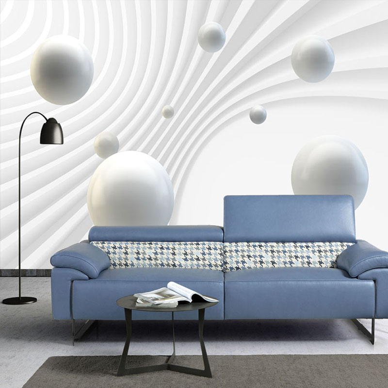 Modern Simple 3D Stereoscopic Sphere Abstract Space Photo Mural Wallpaper Living Room Office Backdrop Wall Covering Papel Murals custom baby wallpaper snow white and the seven dwarfs bedroom for the children s room mural backdrop stereoscopic 3d