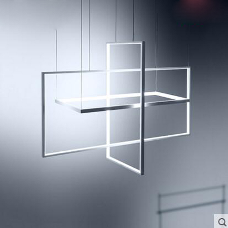 купить Creative art geometric chandelier modern minimalist living room bedroom dining room lighting Nordic personality lighting fixture онлайн