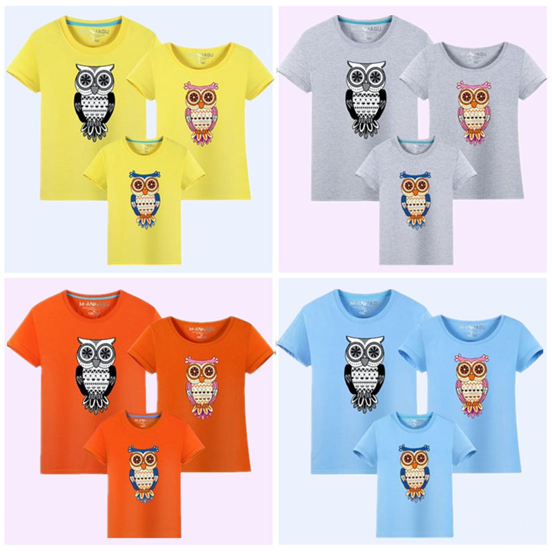 1Piece Family Matching Clothes 2017 Summer New Cartoon Owl Print - Children's Clothing - Photo 5
