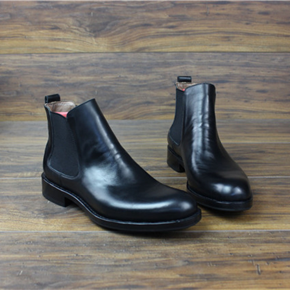 2dcd49d7fa4 US $224.1 10% OFF Sipriks Mens Black Chelsea Boots Imported Italian Calf  Leather Ankle Boots Winter Warm Wool Slip On Dress Shoes Goodyear Welted-in  ...