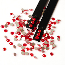Sample light Siam Non Hot Fix Rhinestones Flatback Glass Crystal Glitter Strass 3D Nail Art Stone for Nails Shoes Bags
