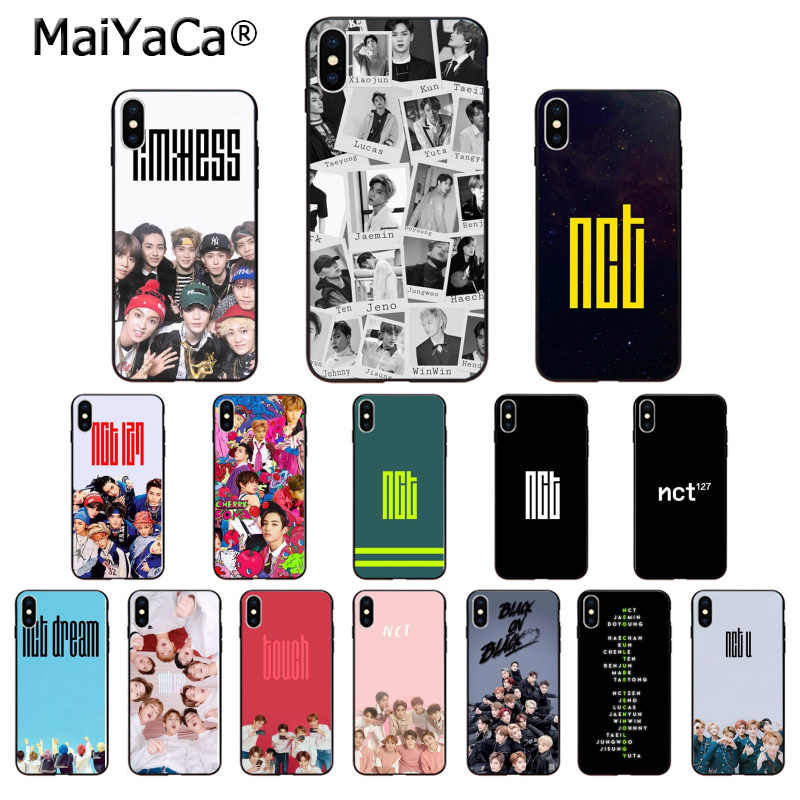 MaiYaCa KPOP Boy team nct 127 TPU Soft Silicone Phone Case Cover for Apple iPhone 8 7 6 6S Plus X XS MAX 5 5S SE XR Mobile Cases