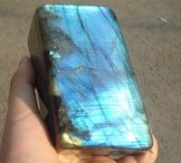 880G Gorgeous Natural Labradorite gemstone Crystal Rough Polished Y 1002#