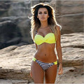 2017 New Swimwear Women Bikini Candy Colors Swimsuits Bathing Suit Push Up Bikini Set Plus Size Swimwear Female Biquinis