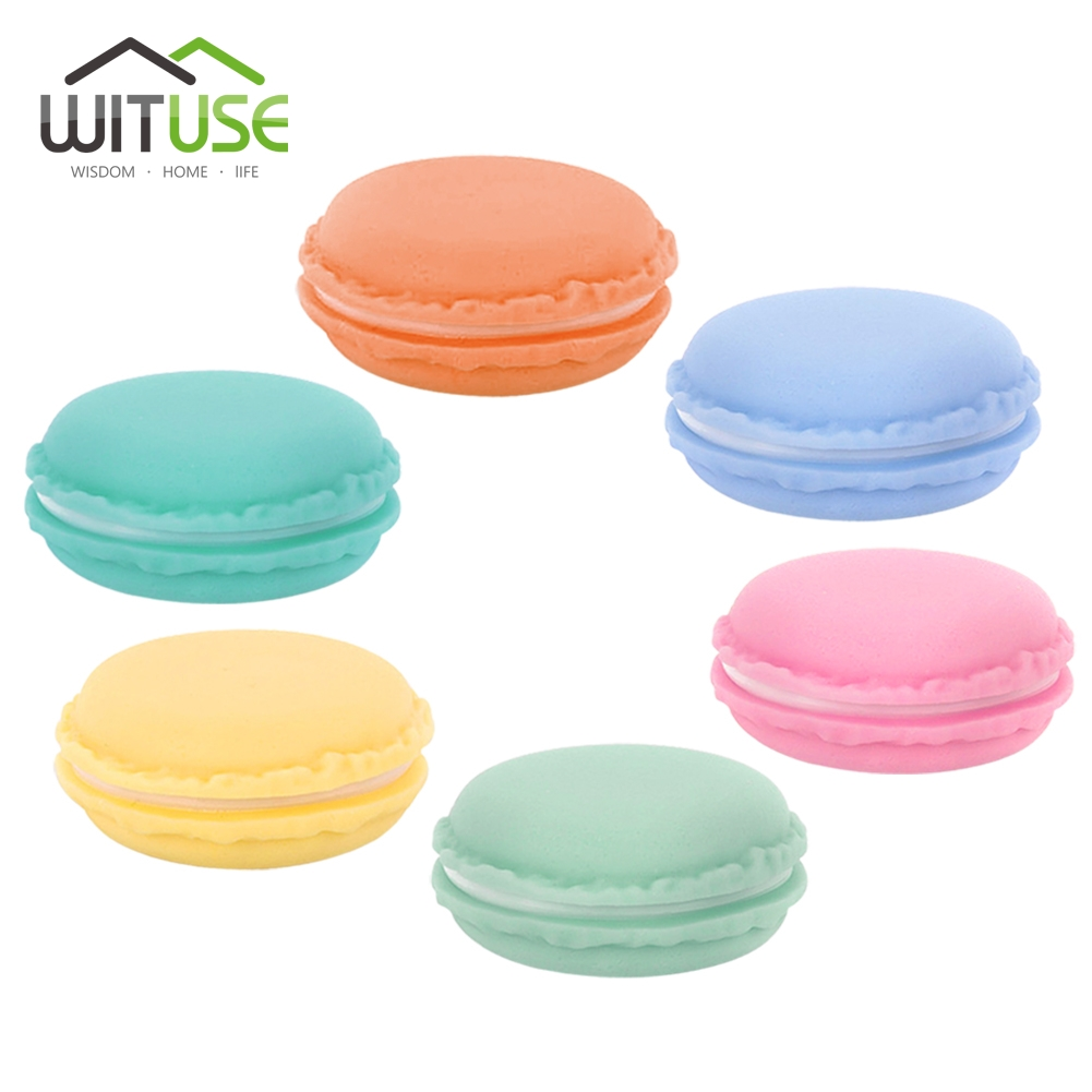 WITUSE 12pcs/lot Mini Kawaii Earphone SD Card Macarons Bag Storage Box Case Carrying Pouch small pills jewelry box organizing