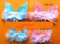 Wholesale Free shipping DIY angel feahter wing pink and blue color  S and M size you can choose  feahter product 200piece/lot
