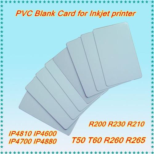 Printer Supplies Punctual Inkjet Blank Pvc Card White Id Card For Epson /canon Inkjet P50 T50 T60 P50 L800 R200 R230 R260 Ip4810 Ip4700 Ip4930 Printer
