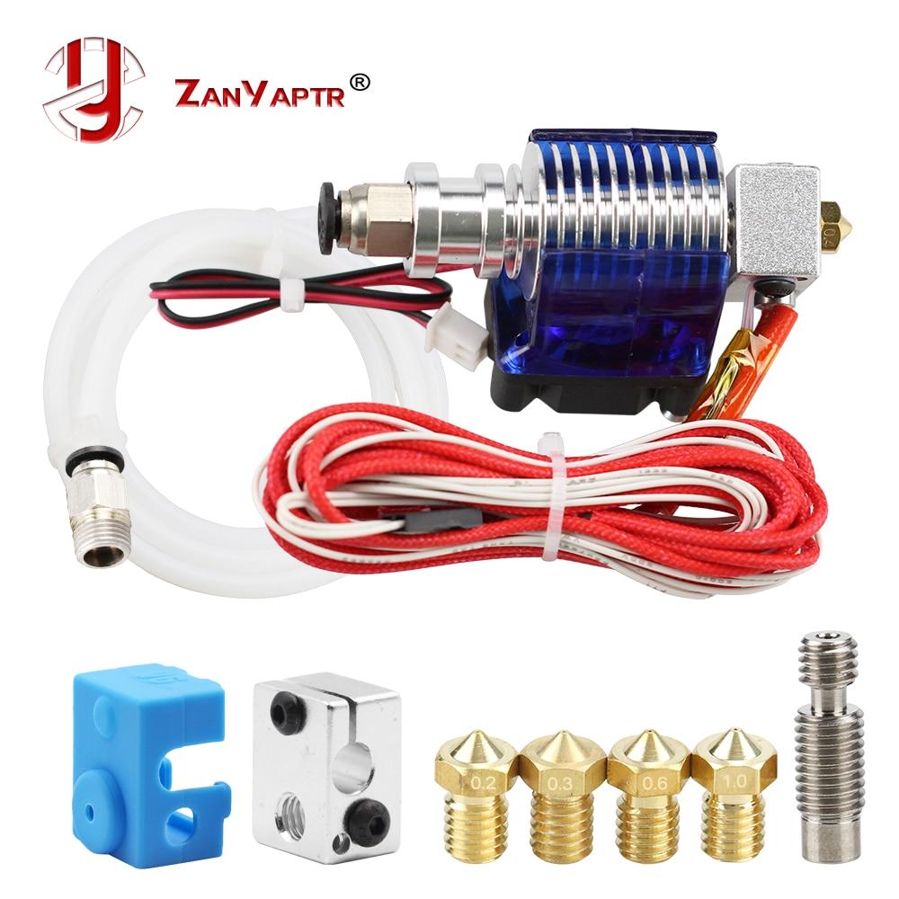 3D impresora J-la salida Hotend con un solo ventilador de refrigeración para 1,75mm/3,0mm 3D v6 bowden filamento boquilla extrusora de 0,2mm/0,3mm/0,4mm