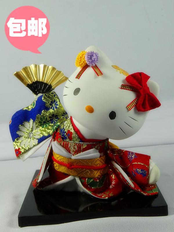 Decoration Arts crafts girl gifts get married Hello Kitty hellokitty Japan cartoon doll doll kiginu Japanese Geisha humanoid dec