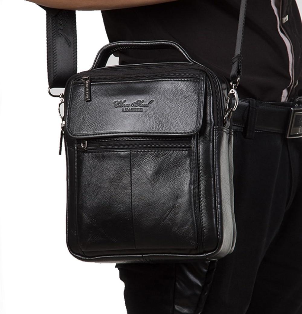새로운 패션 남자 정품 가죽의 고품질 핸드백 비즈니스 메신저 단일 어깨 가방 담배 케이스 전화 가방 지갑