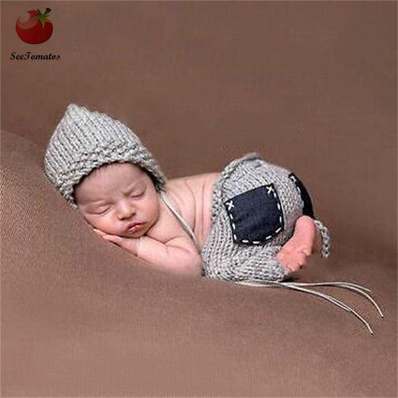 2018 Crochet Newborn Photography Props Accessories Hat