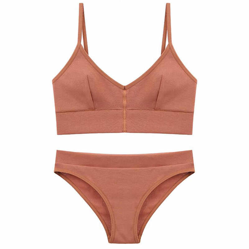Termezy 2019 Nieuwe Vrouwen Mode Katoen Lingerie Draadloze Bras Voor Vrouwen Push Up Bh Set Comfortabele Sexy Ondergoed Gratis Verzending