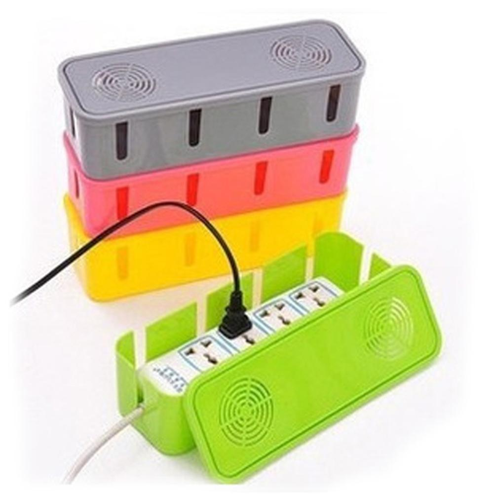Plastic Cable Storage Box Cooling Holes Power Cord Socket Storage Box Safety Socket Outlet Board Container Home Decoration