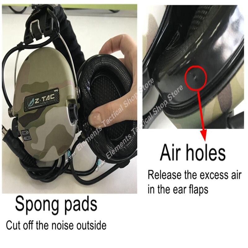 Z-TAC съемка тактическая гарнитура Sordin активный пикап шумоподавление Airsoft тактическая гарнитура для Walkie-talkie Z111-5