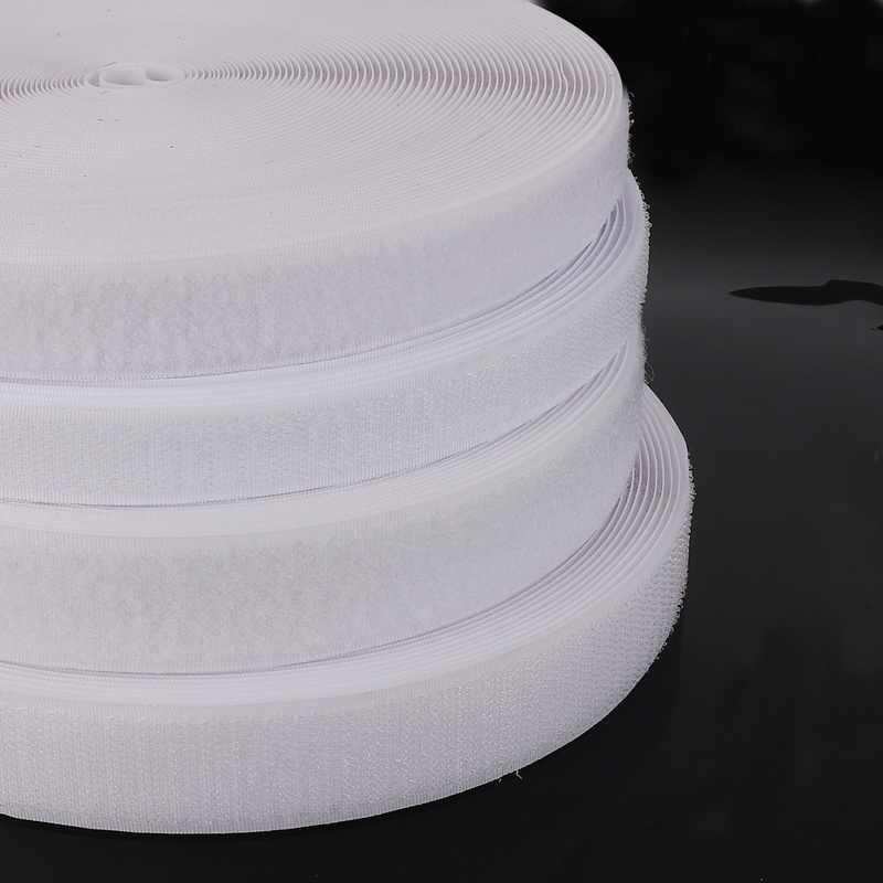 גבוהה באיכות 2 מטרים\חבילה 16mm/20mm/25mm/30mm/40mm רוחב לבן צבע הוק/רול-לתפור על קלטת (לא דבק)