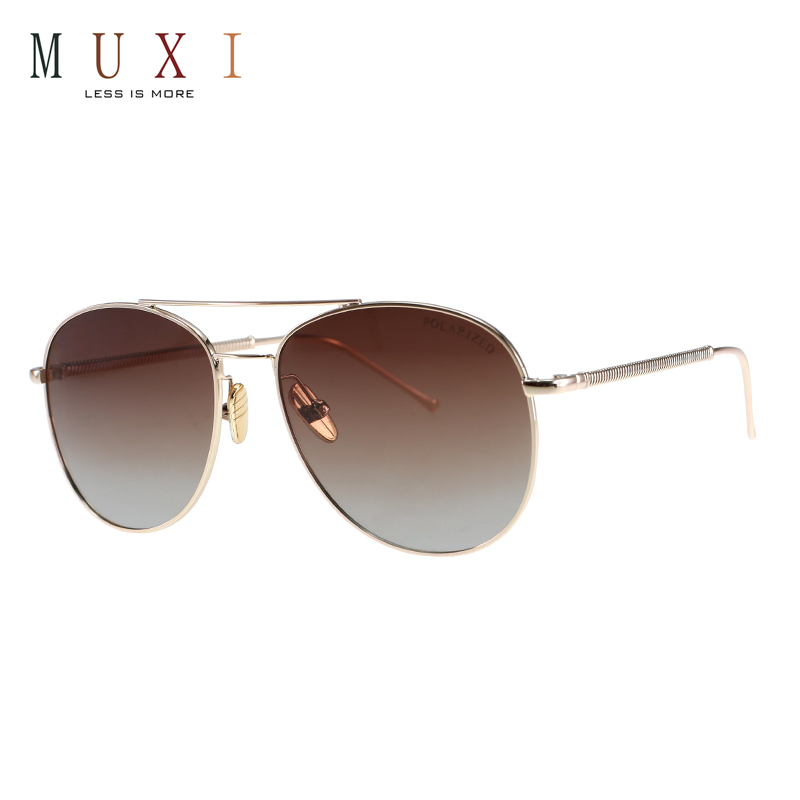 cb97a40d4f MUXI 2018 good price classic latest sunglasses polarized unisex thin metal  frame sunglasses slim sunglasses
