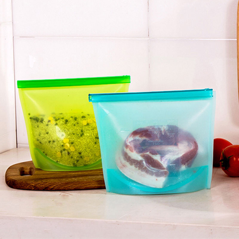 1pc Food Grade Silicone Fresh Bags Home Food Sealing Storage bag Organization kitchen Gadgets cooking tools Accessories Supplies