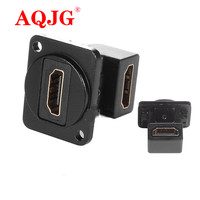 10Pcs/Lot NEW D Type HDMI to HDMI Straight socket Chassis Panel Mount Connector Audio connector 90degree L type