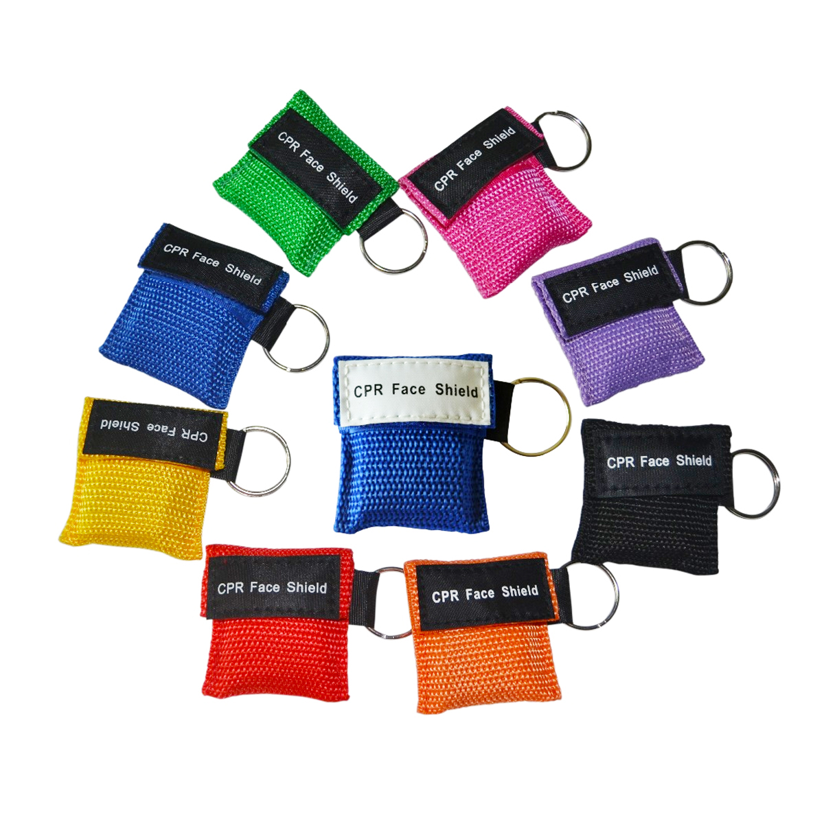 50Pcs/Lot CRP Mask Mouth To Mouth Breathing CE FDA Approved Reusable Rescue Keychain CPR Keyring 8 Colors 50pcs lot g20n40l to 252 251