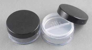 50pcs plastic 20ml empty compact case for mineral powder, clear makeup compacts cases wholesale