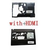 NEW FOR Lenovo G570 G575 Bottom Case Cover Palmrest Upper Case With HDMI Combo