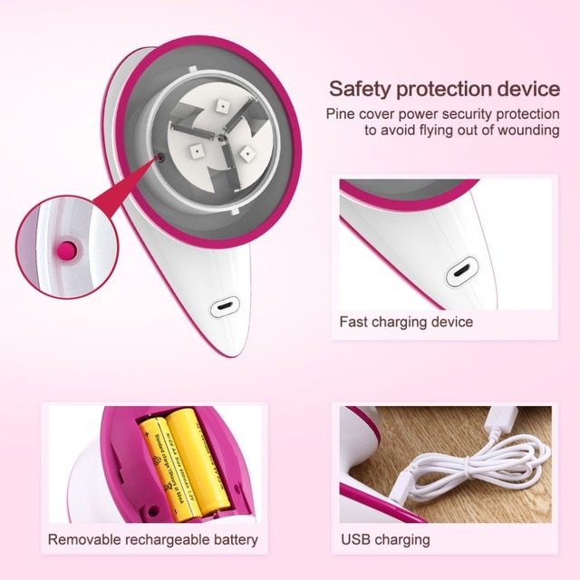 Portable USB Rechargeable Lint Remover Battery Operated Fabric Shaver Sweater Shaver Clothes Shaver Remove the Bobbles Lint Removers
