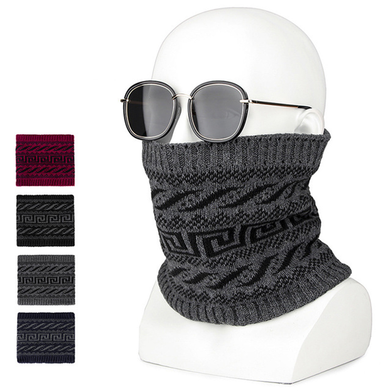 MANYUE-CO Fashion Men Winter Scarf Ring Women Knitted Scarves For Men Neck Shawl Snood Warp Collar Warm Male Soft Cotton Scarves