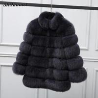 XS 4XL Mink Coats Women 2018 Winter New Fashion Pink FAUX Fur Coat Elegant Thick Warm Outerwear Fake Fur Jacket Chaquetas Mujer