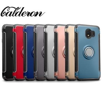 Fundas de teléfono McCollum para Samsung Galaxy J2 J4 J6 J8 2018 funda PRO J7 PLUS C7 2017 C8 NOTE 9 NOTE9 piel con anillo de dedo
