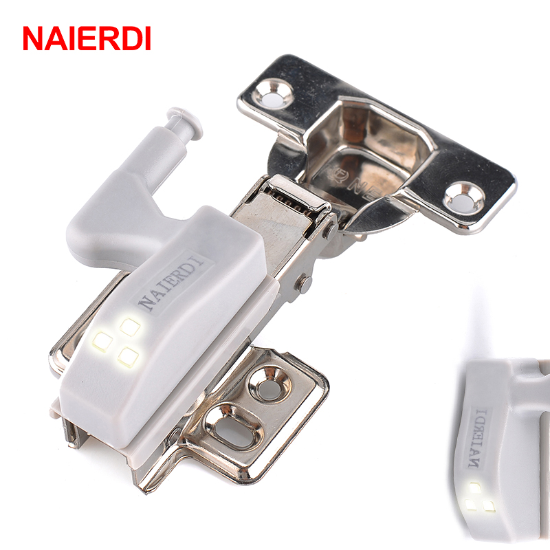 NAIERDI Universal Hinge LED Sensor Light Cabinet Light Cupboard Inner Hinges Lamp Kitchen Bedroom Wardrobe Night Light