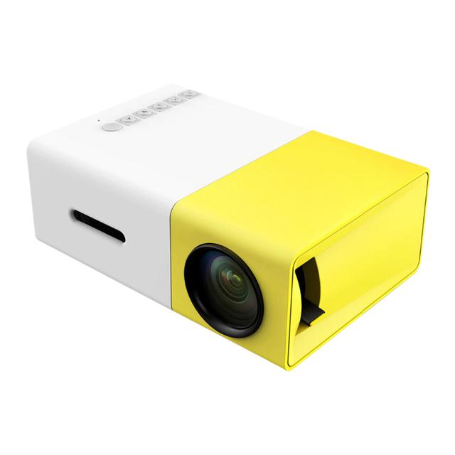 YG300 Portátil Proyector LED Cinema Theater PC y Portátil USB/SD/AV/HDMI de Entrada Mini Proyector de Bolsillo FW1S EE. UU. Plug
