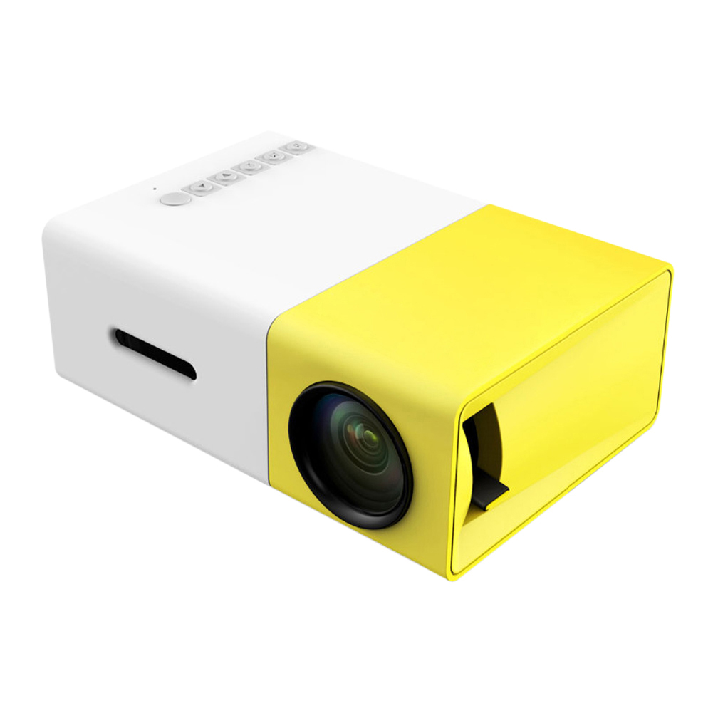 Yg300 portable led projector cinema theater pc laptop usb for Mini portable pocket projector