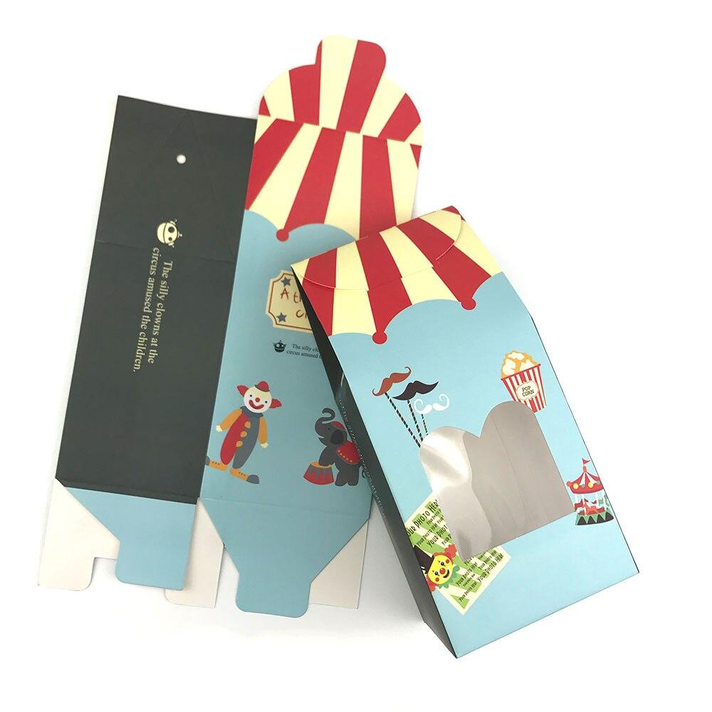 20 шт. цирковая тематика, коробка конфет с окном, товары для детского дня рождения, посылка ручной работы с печенью, сумка, детская подарочная ...