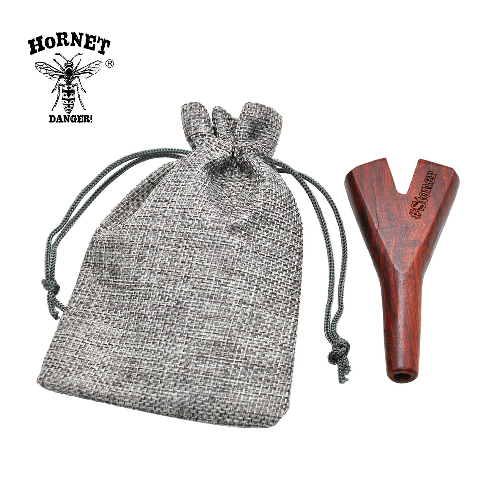 New Arrival Stoner Double/Three Trident Portable Carry Wooden Cigarette/Cones Holder Smoking Accessories.Color Random