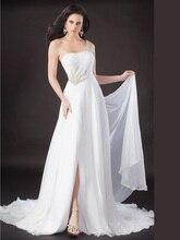 Charming Verkauf Lange Chiffon Eine Schulter Abendkleid Kleid 2016 Split Abend Formale Backless Sleeveless Drapierter F1960