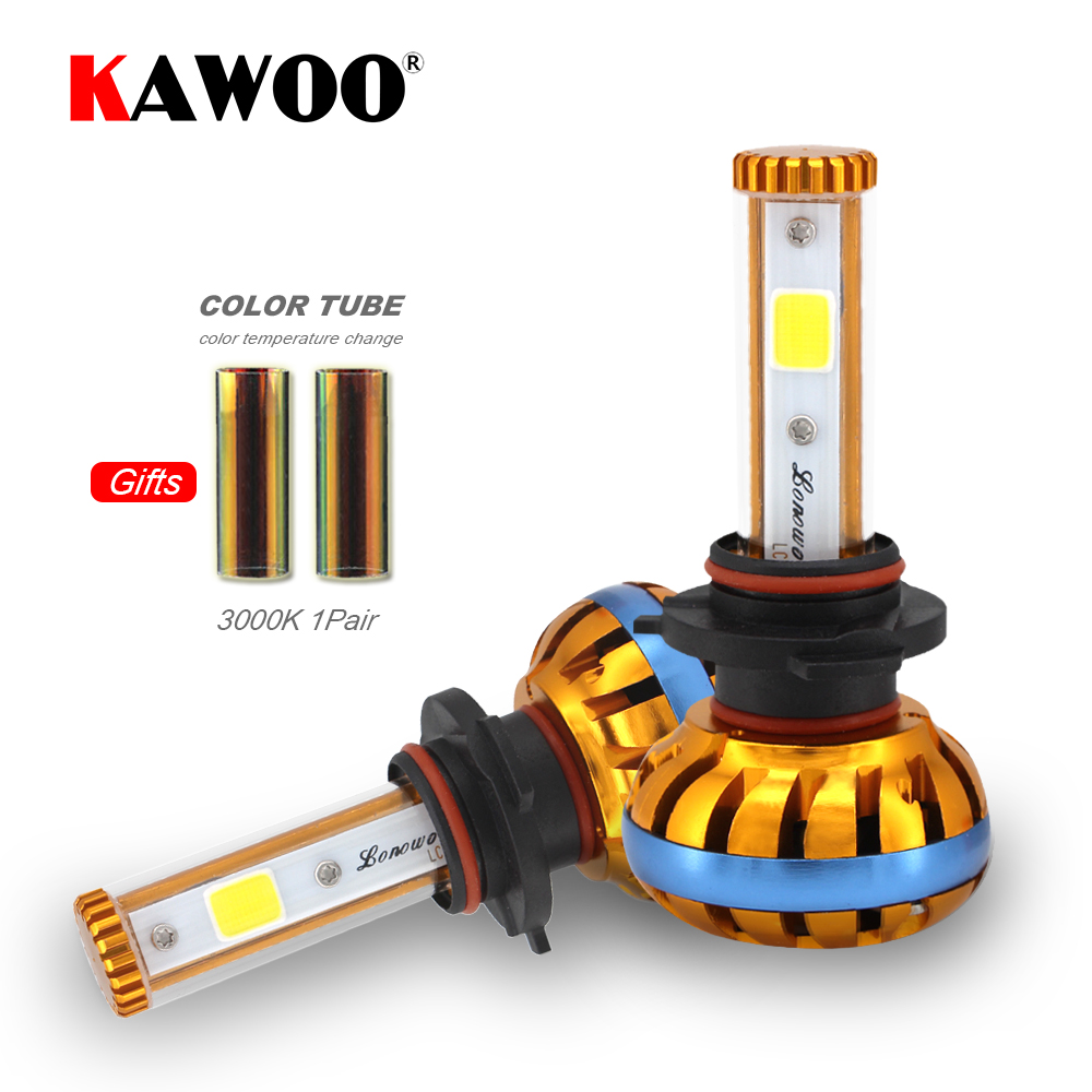 KAWOO S2 H4 H7 H13 H11 H1 9005 9006 H3 9004 9007 9012 COB LED Headlight Diy 6000K to 3000K Car LED Headlights Bulb Fog Light 12V led h4 h7 h11 h1 h10 hb3 h13 h3 9004 9005 9006 9007 cob led car headlight bulb 80w 8000lm 6000k auto headlamp 200m light range