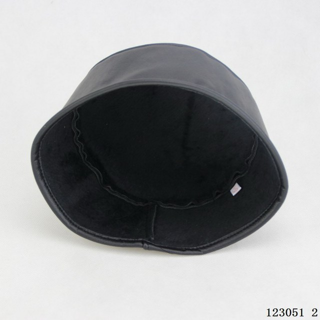 Winter warm imitation sheepskin Muslim Prayer Cap for men, black color